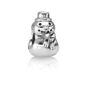 Pandora discontinued snowman charm